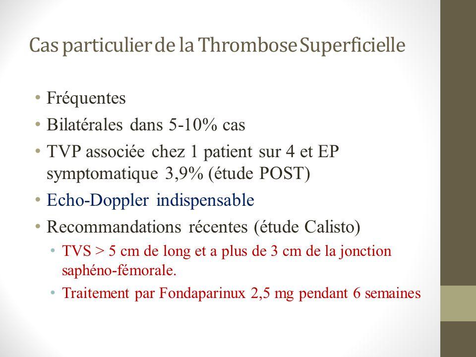 Cas particulier de la Thrombose Superficielle