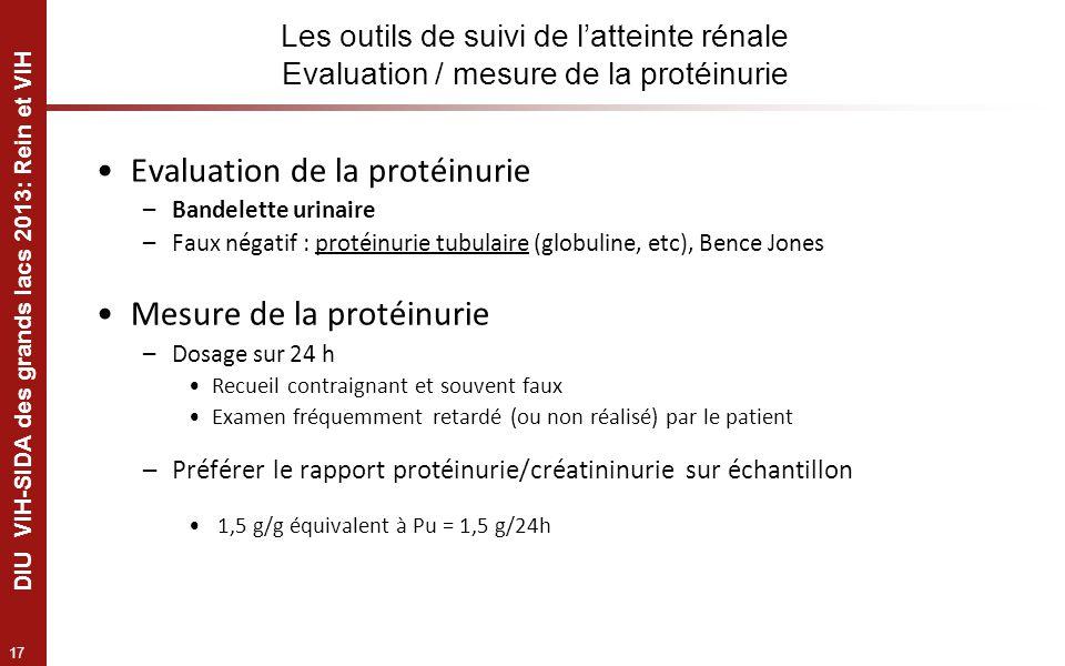 Evaluation de la protéinurie