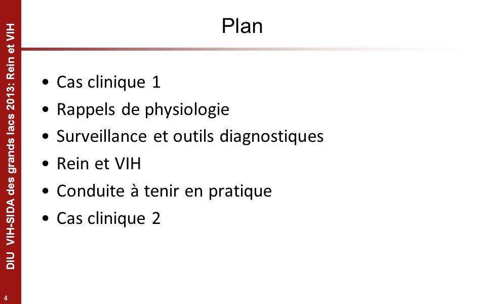 Plan Cas clinique 1 Rappels de physiologie