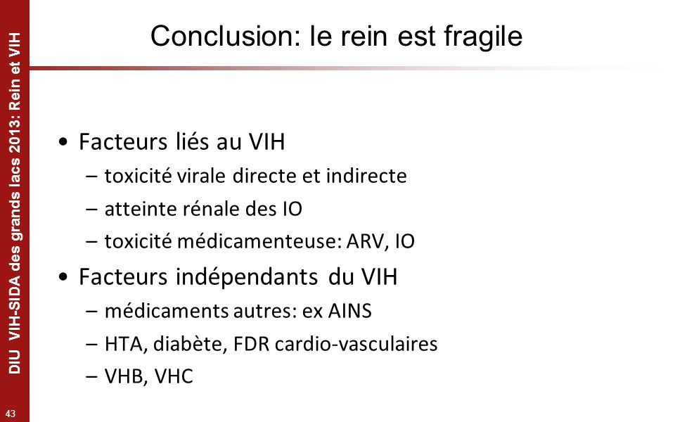 Conclusion: le rein est fragile