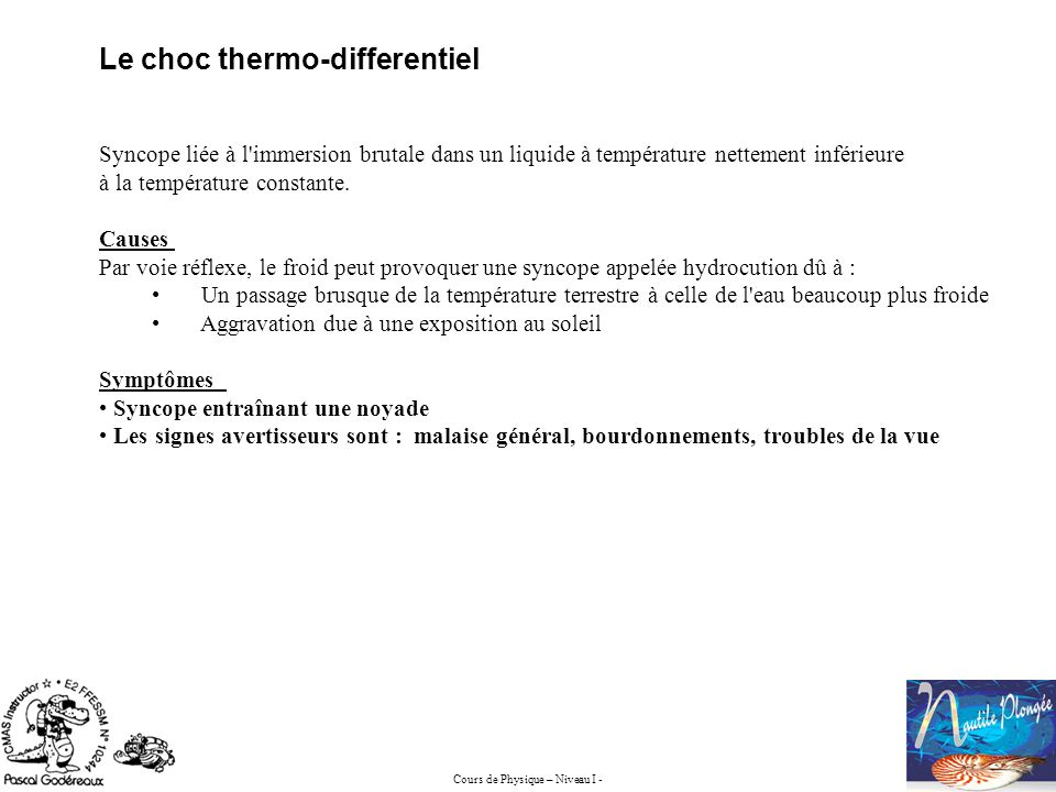 Le choc thermo-differentiel