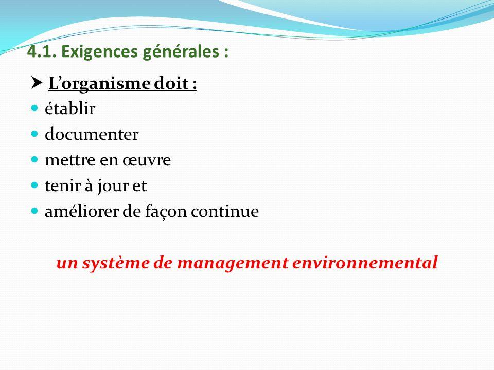 un système de management environnemental