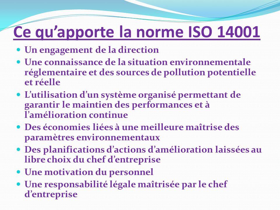 Ce qu'apporte la norme ISO 14001