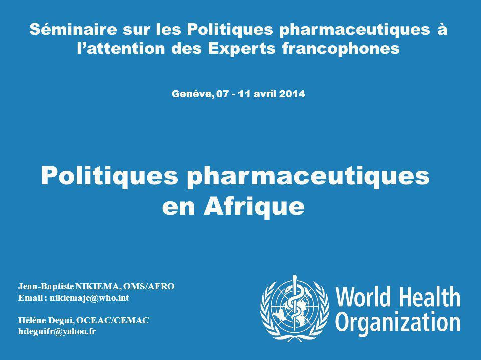 Politiques pharmaceutiques