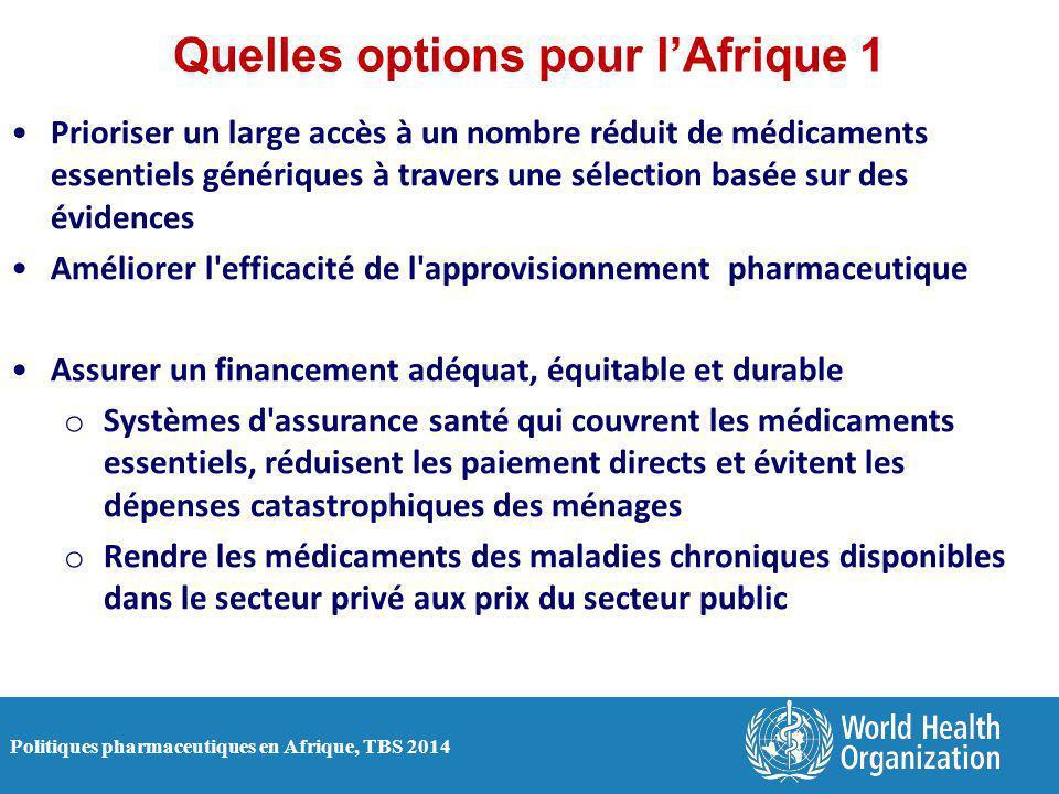 Quelles options pour l'Afrique 1