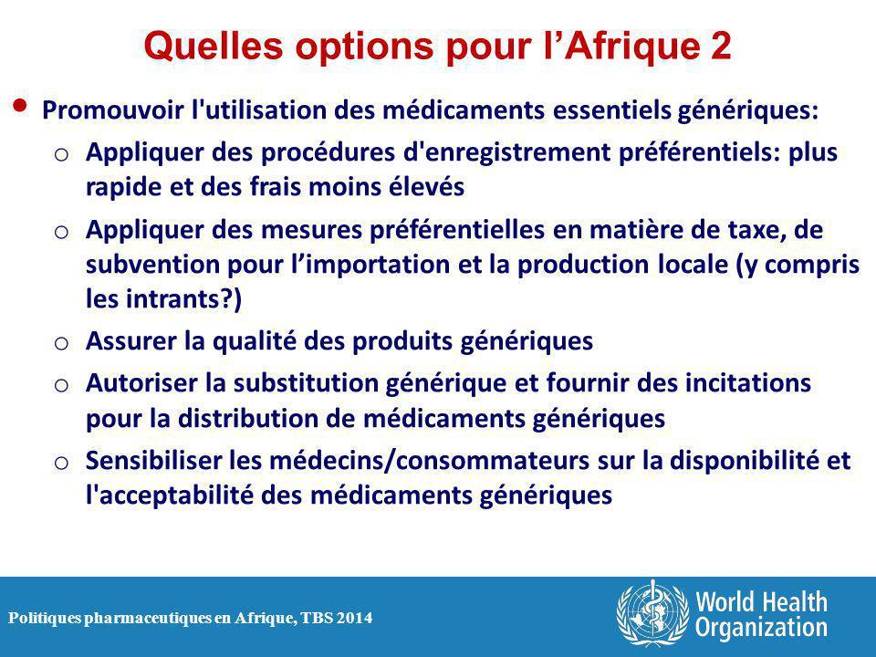Quelles options pour l'Afrique 2