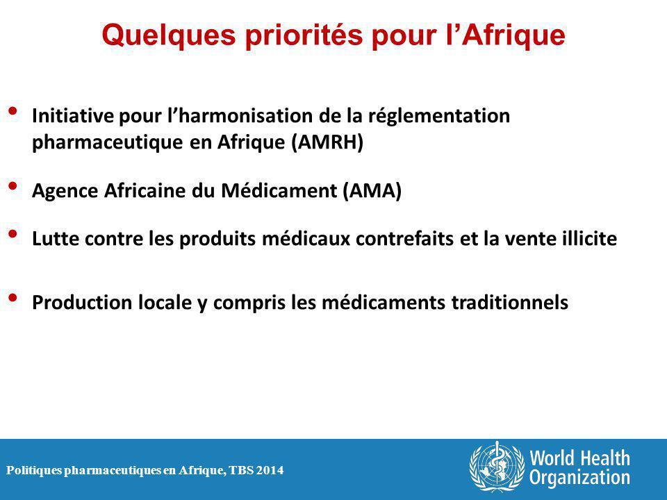 Quelques priorités pour l'Afrique