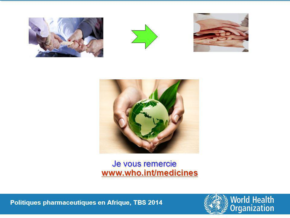 Je vous remercie www.who.int/medicines