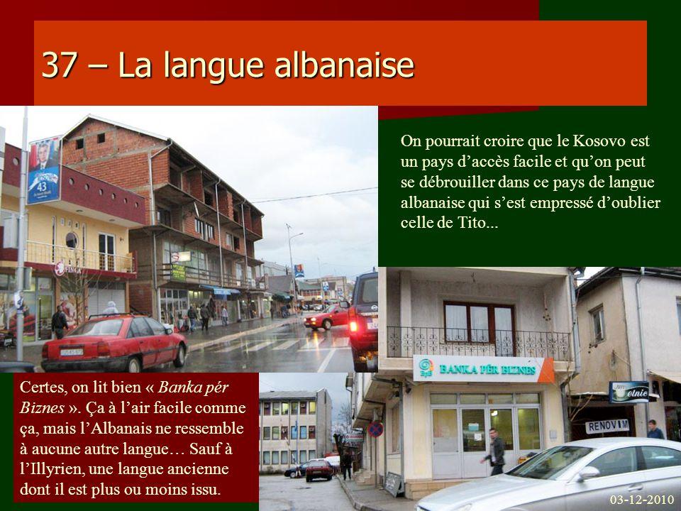 37 – La langue albanaise