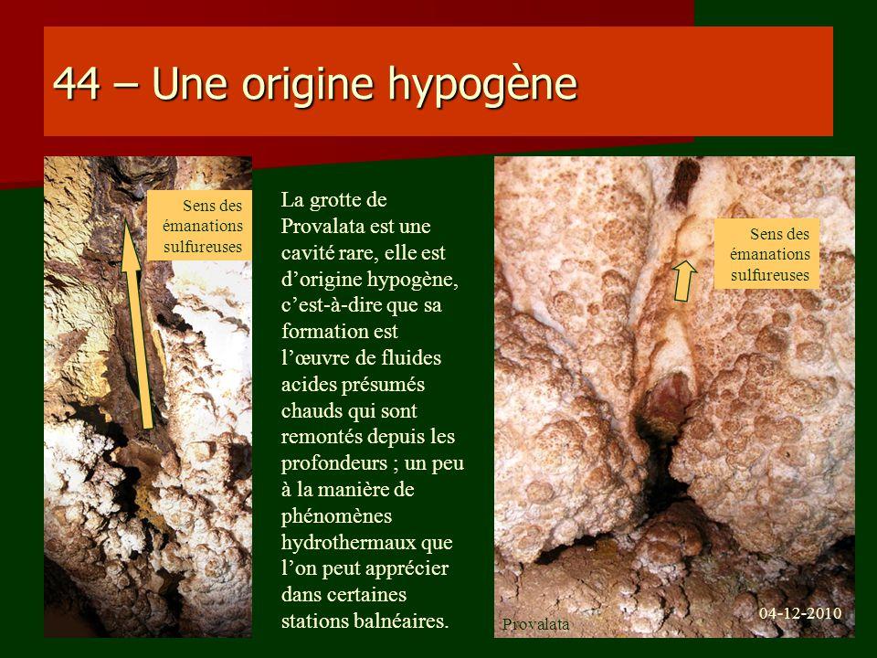44 – Une origine hypogène