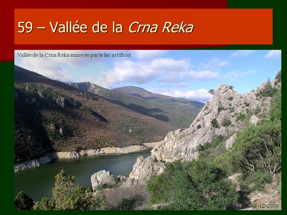 59 – Vallée de la Crna Reka Vallée de la Crna Reka ennoyée par le lac artificiel 05-12-2010