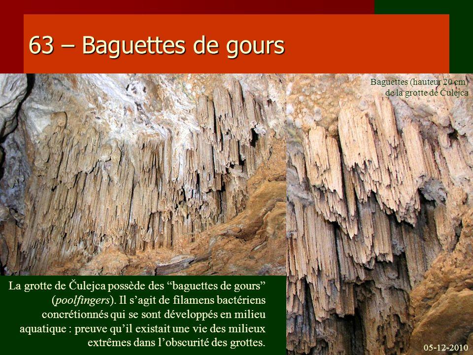 63 – Baguettes de gours Baguettes (hauteur 20 cm) de la grotte de Čulejca.