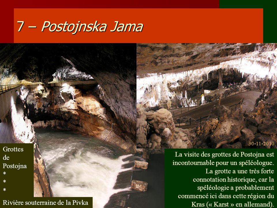 7 – Postojnska Jama Grottes de Postojna