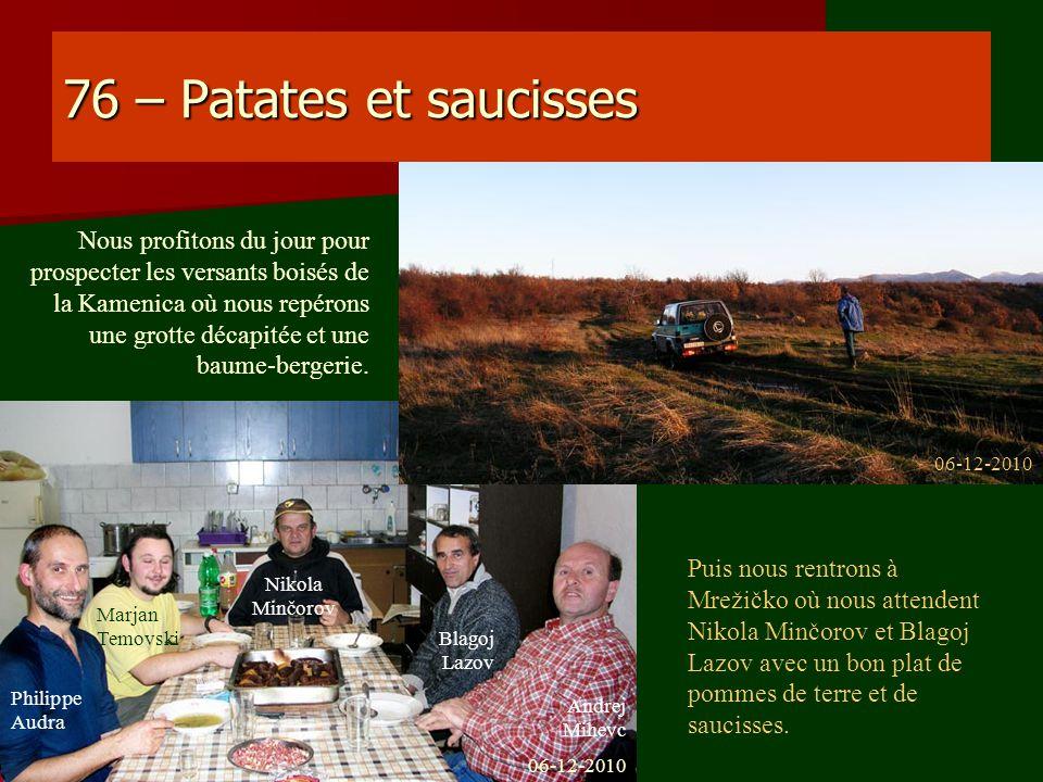 76 – Patates et saucisses