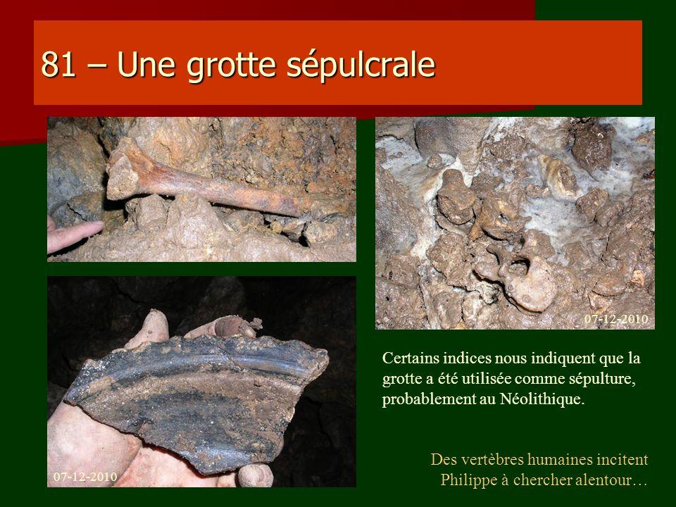 81 – Une grotte sépulcrale