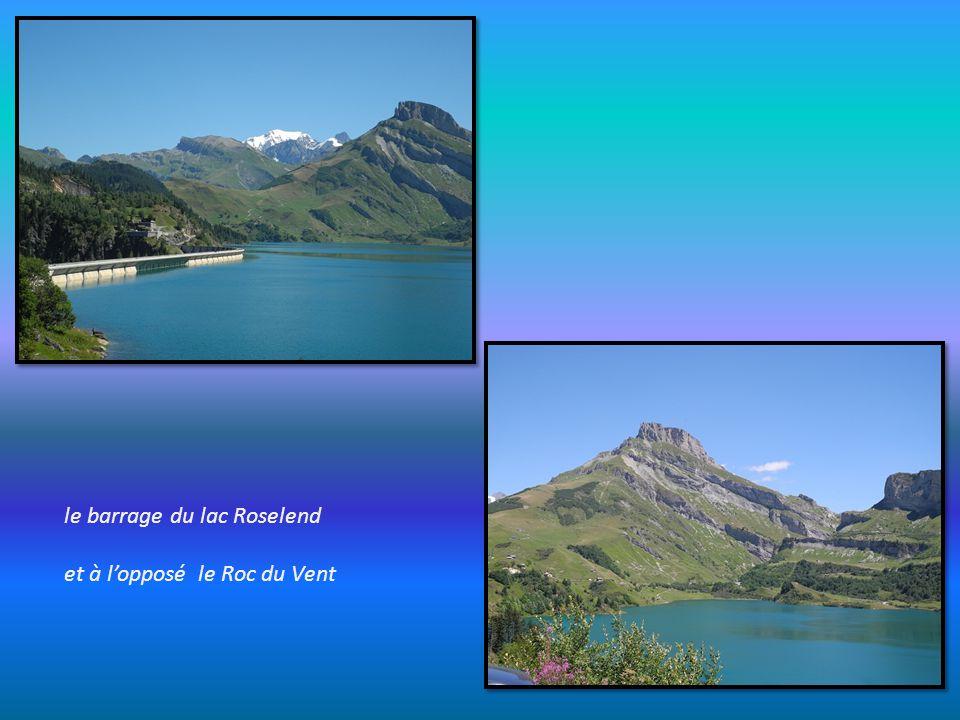 le barrage du lac Roselend