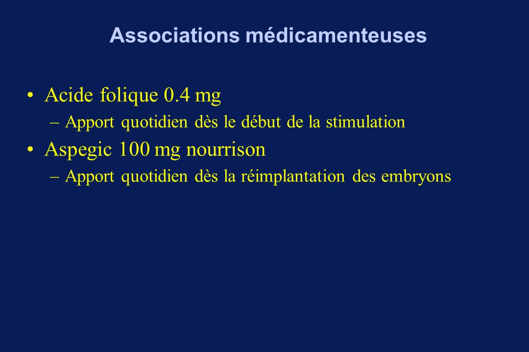 Associations médicamenteuses