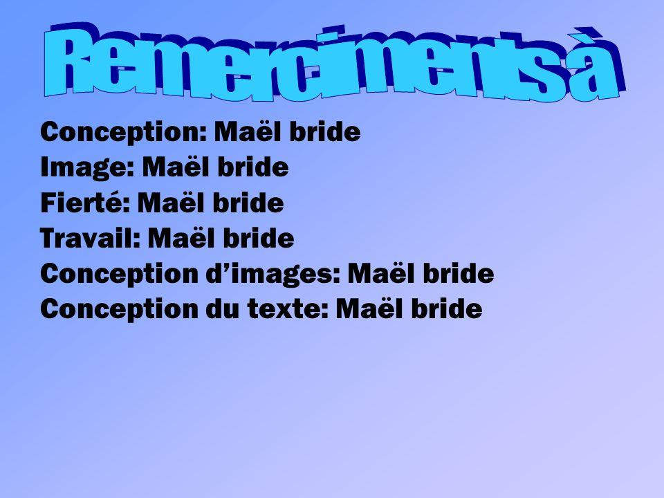 Remerciments à Conception: Maël bride Image: Maël bride
