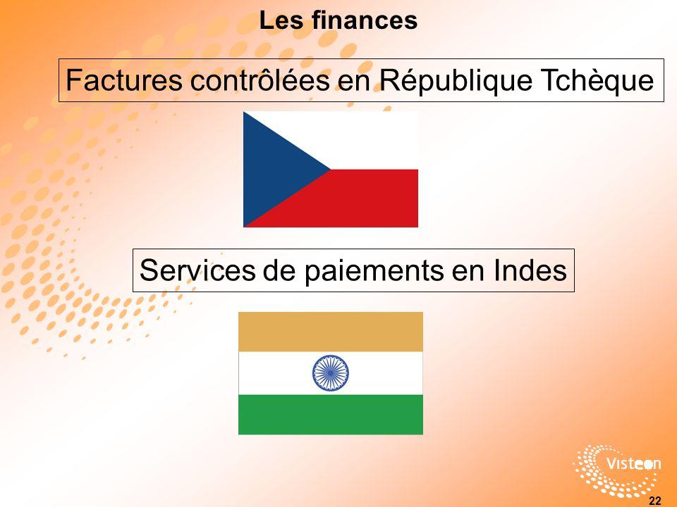 Factures contrôlées en République Tchèque
