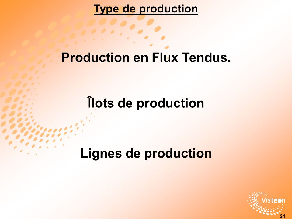 Production en Flux Tendus.