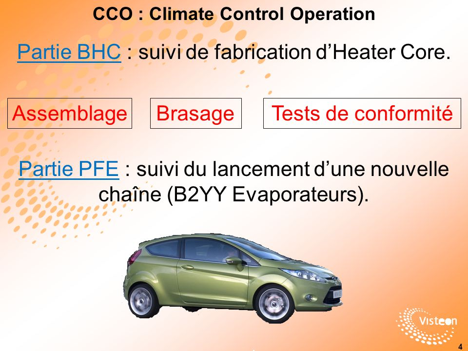 CCO : Climate Control Operation