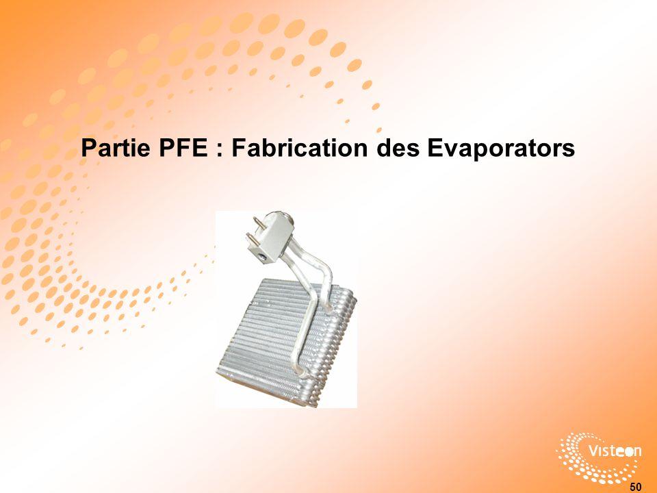 Partie PFE : Fabrication des Evaporators