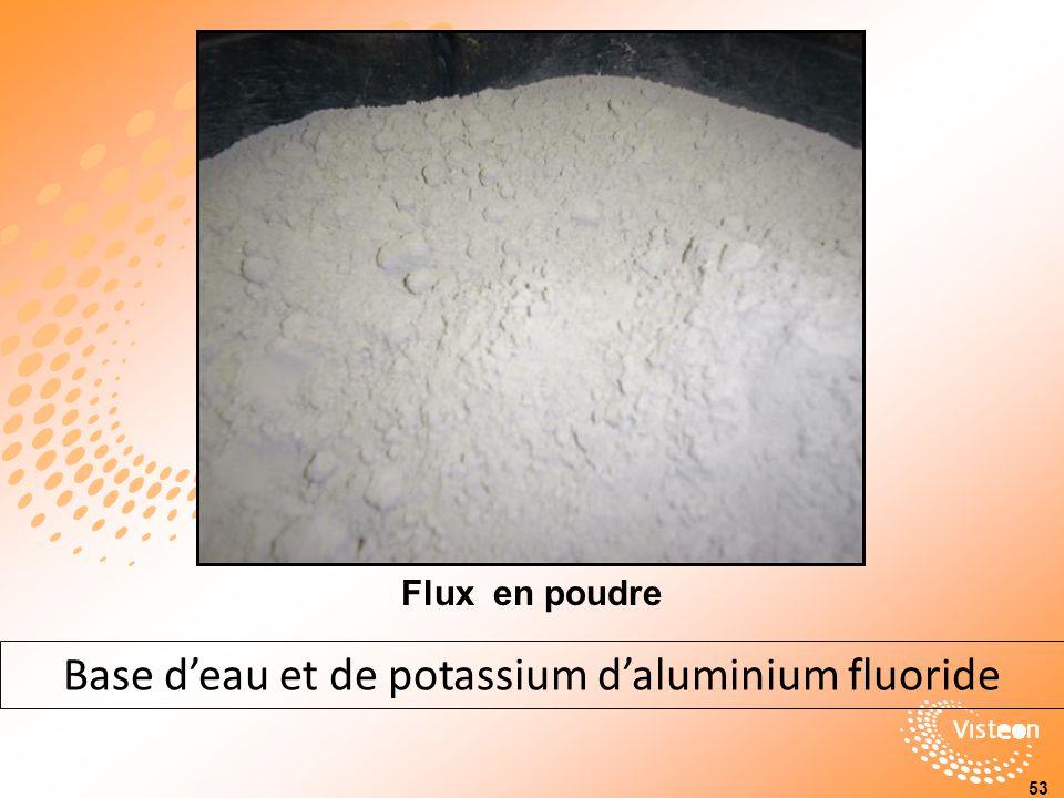 Base d'eau et de potassium d'aluminium fluoride