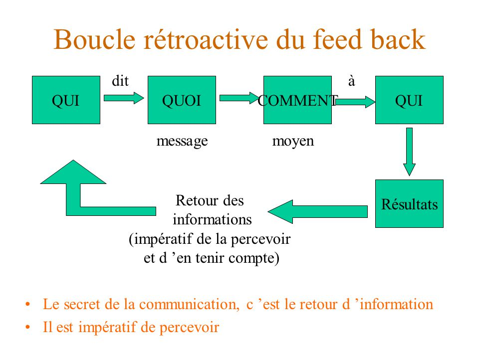 Boucle rétroactive du feed back