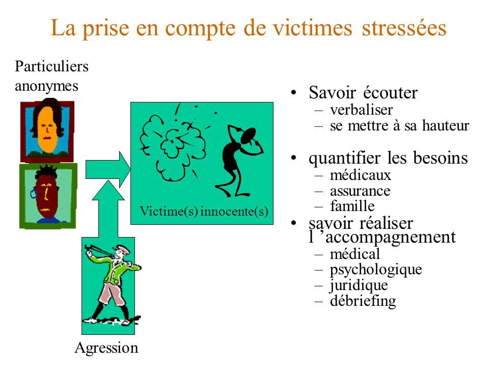 La prise en compte de victimes stressées