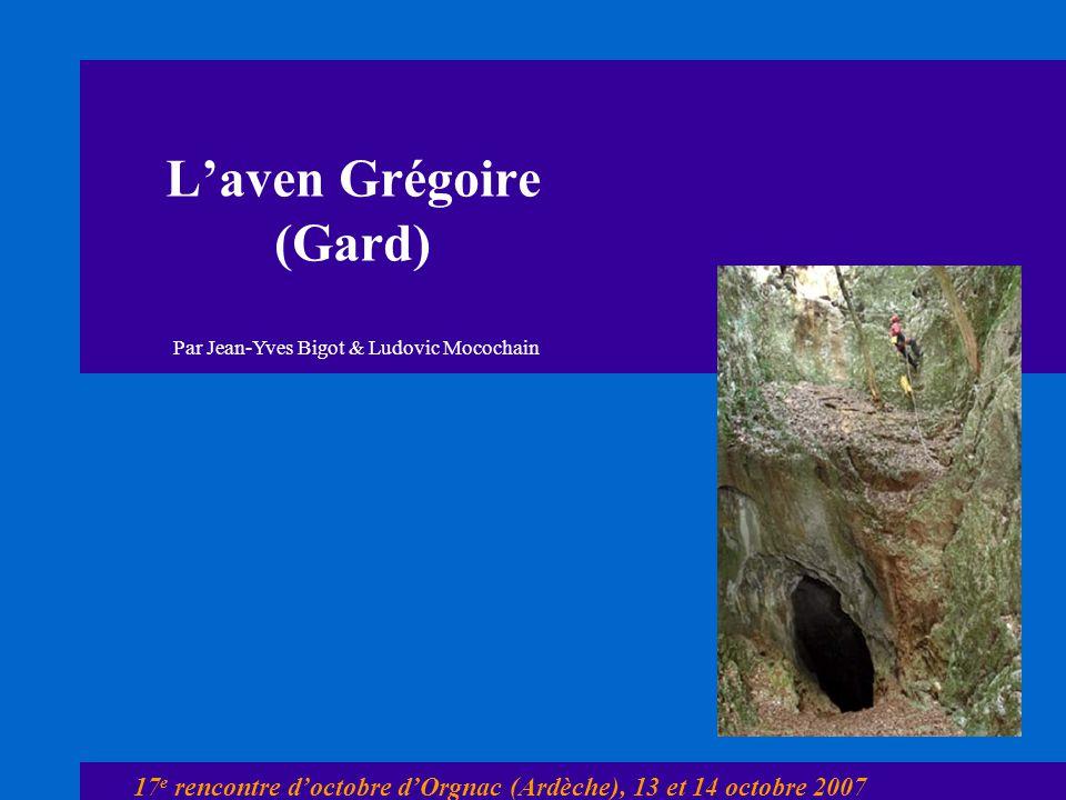 L'aven Grégoire (Gard)