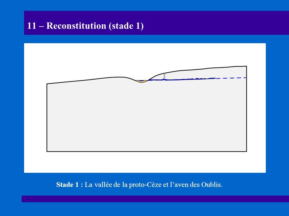 11 – Reconstitution (stade 1)