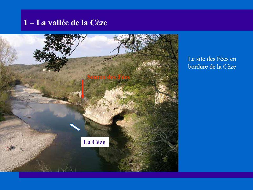 Le site des Fées en bordure de la Cèze