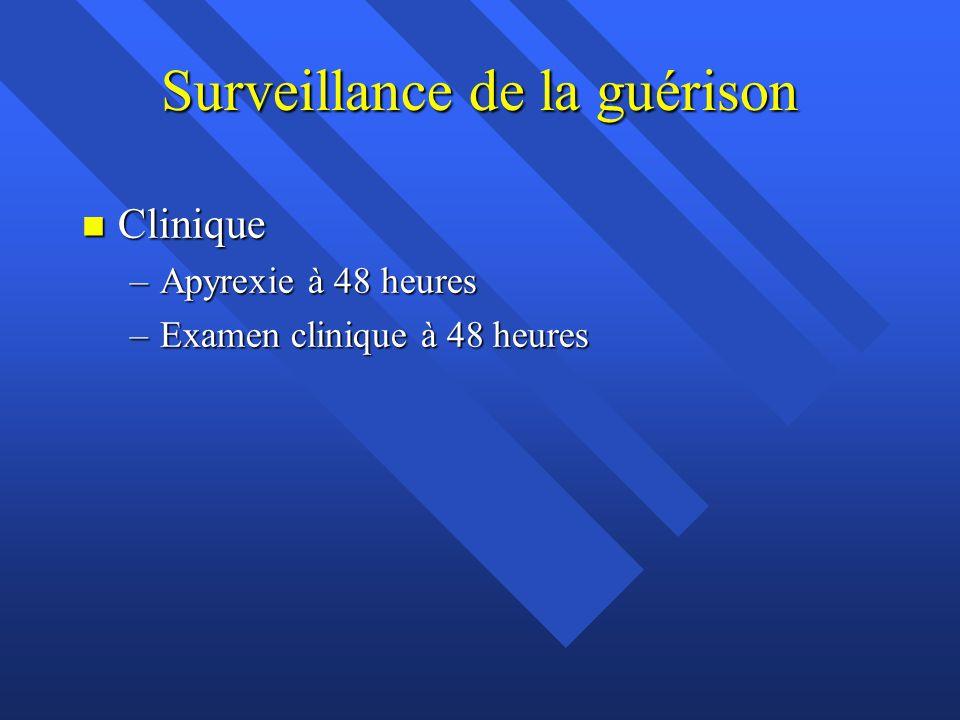 Surveillance de la guérison