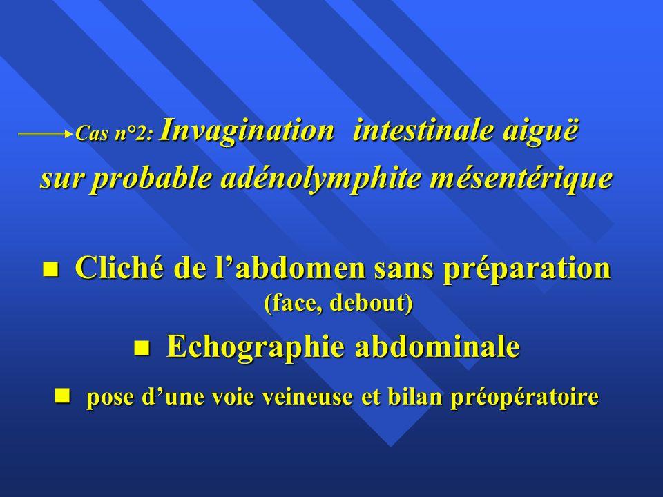 sur probable adénolymphite mésentérique