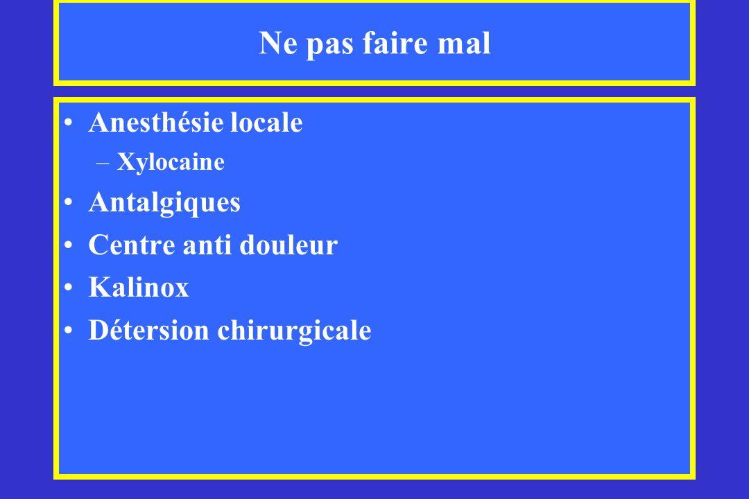 Ne pas faire mal Anesthésie locale Antalgiques Centre anti douleur