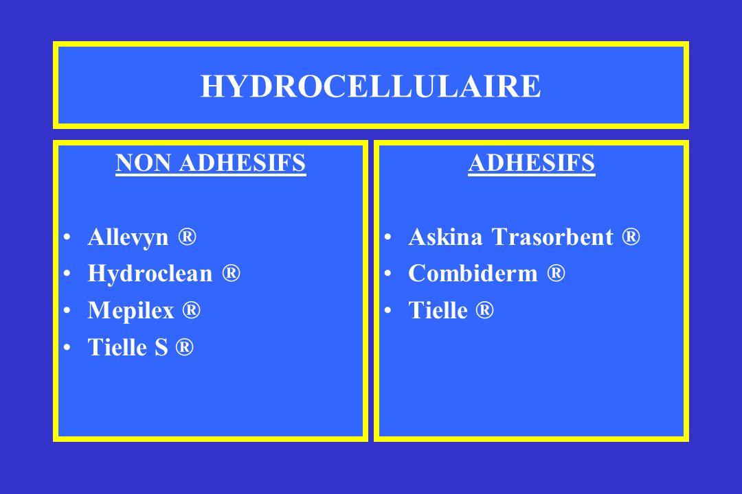 HYDROCELLULAIRE NON ADHESIFS Allevyn ® Hydroclean ® Mepilex ®