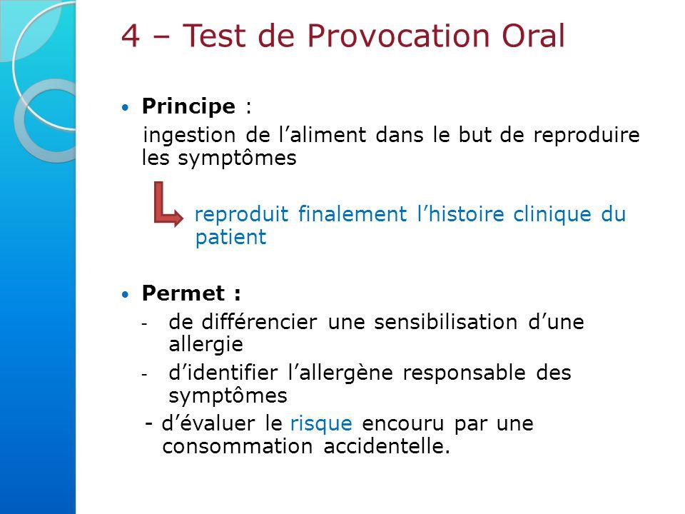 4 – Test de Provocation Oral