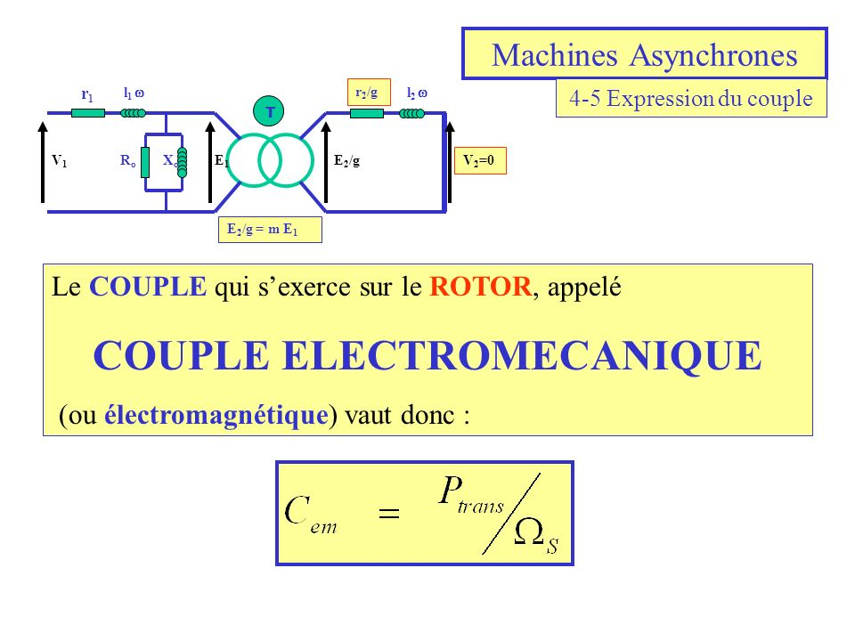 COUPLE ELECTROMECANIQUE