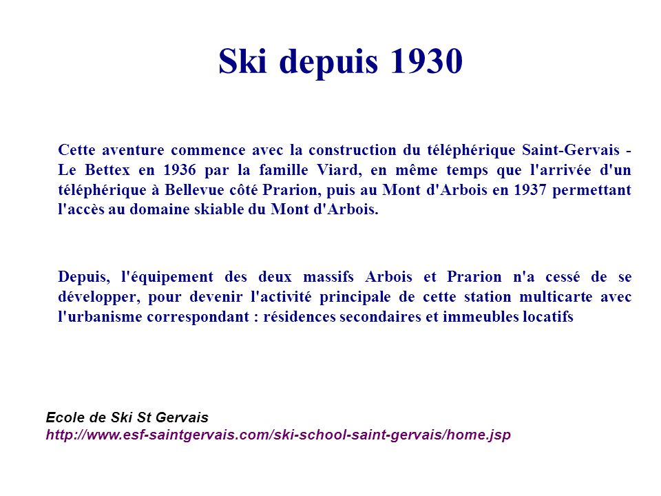 Ski depuis 1930