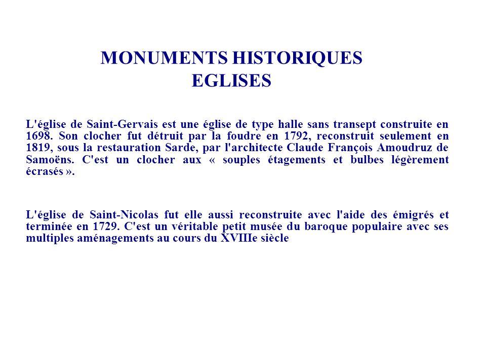 MONUMENTS HISTORIQUES EGLISES