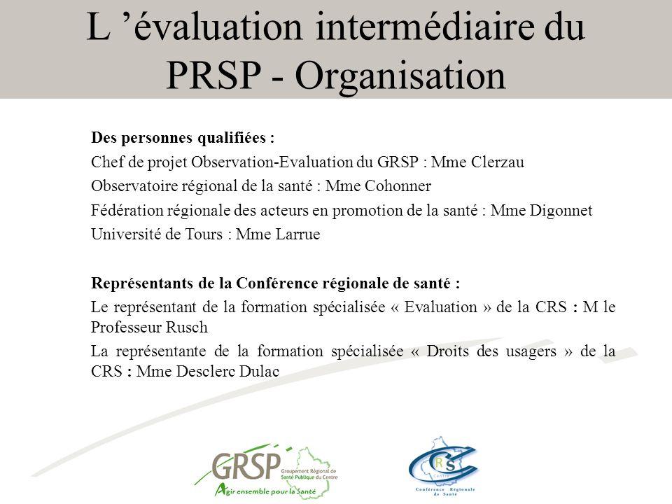 L 'évaluation intermédiaire du PRSP - Organisation