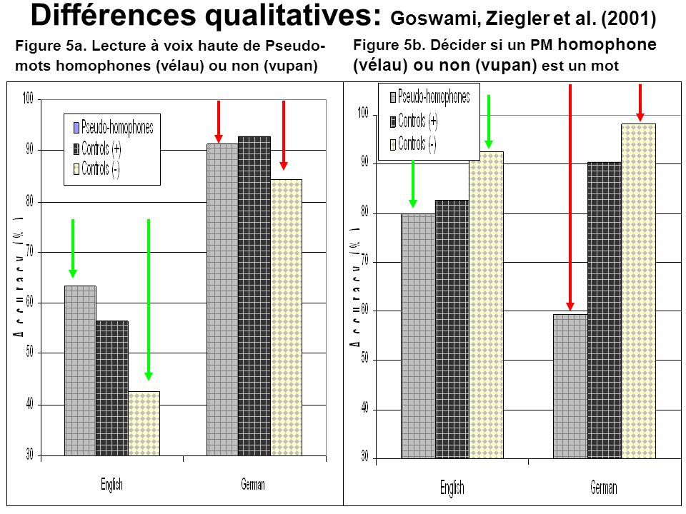 Différences qualitatives: Goswami, Ziegler et al. (2001)