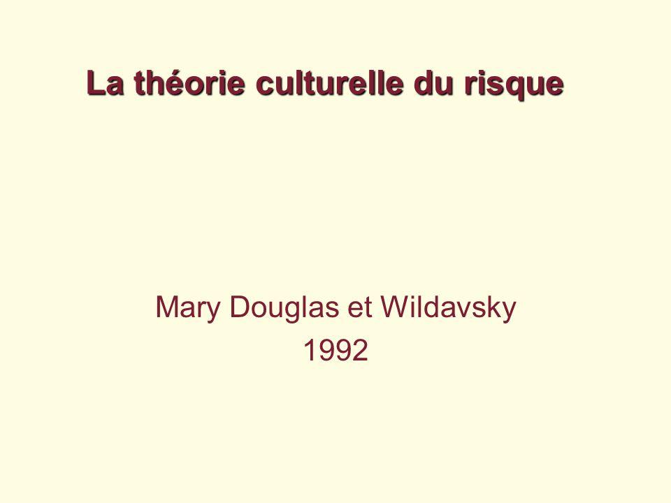 La théorie culturelle du risque