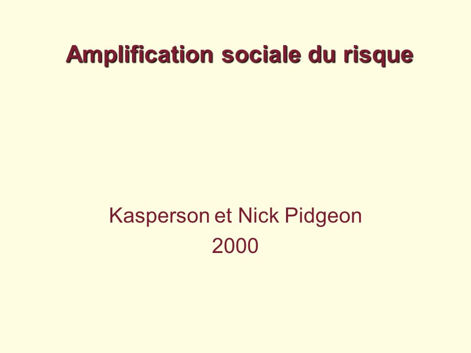 Amplification sociale du risque