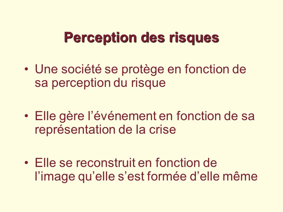 Perception des risques