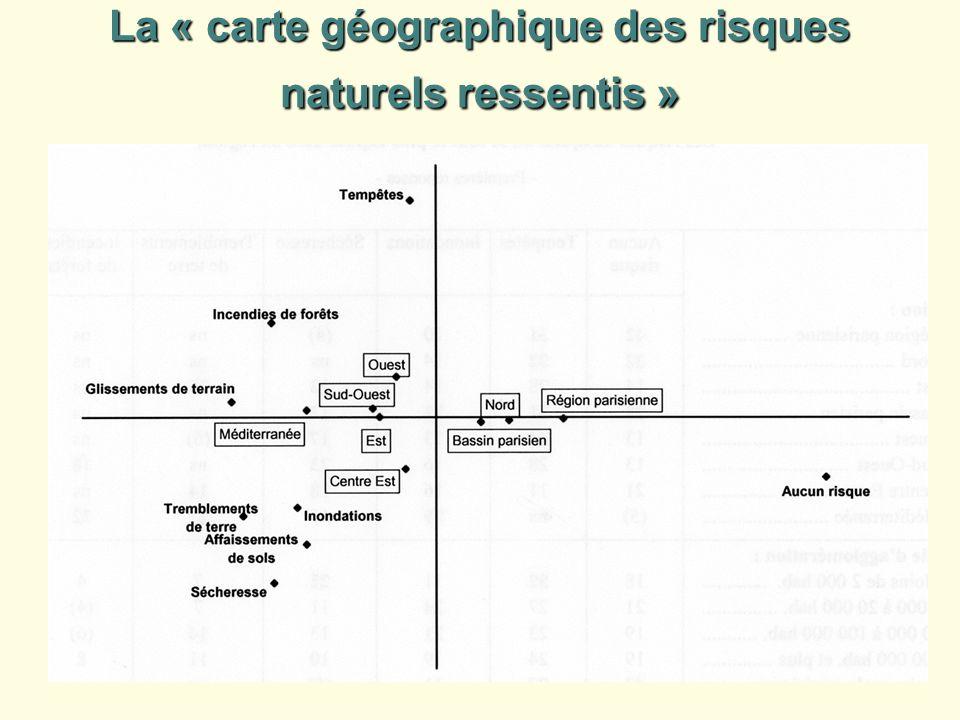 La « carte géographique des risques naturels ressentis »
