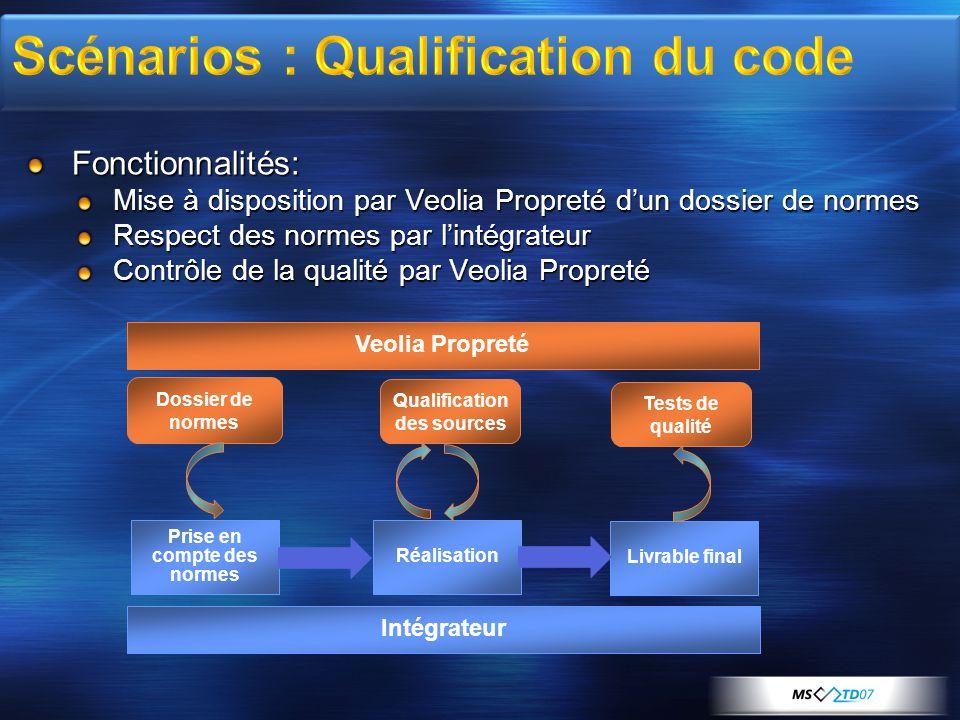 Scénarios : Qualification du code