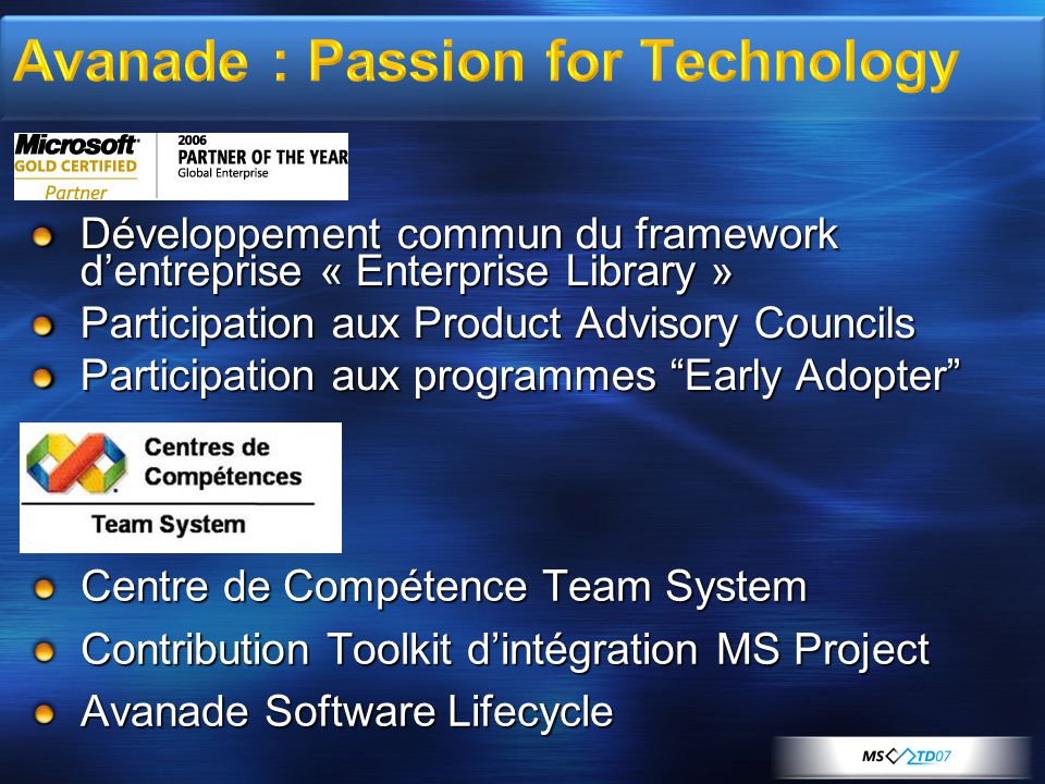 Avanade : Passion for Technology