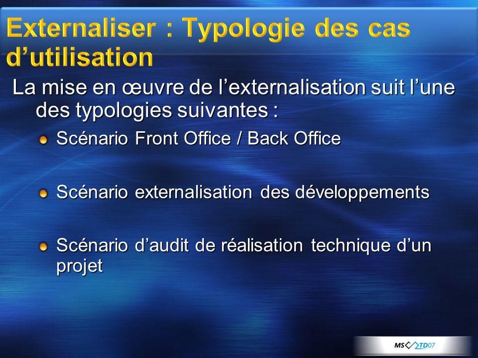 Externaliser : Typologie des cas d'utilisation