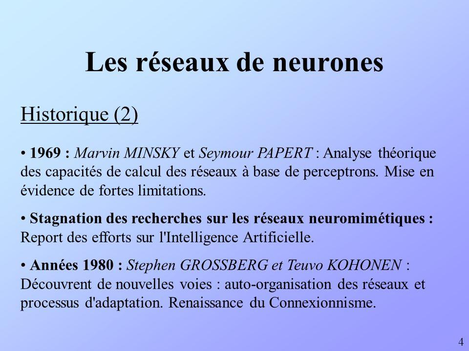 Les réseaux de neurones